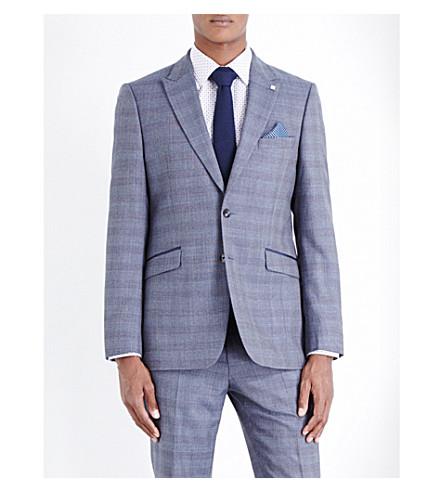 56be537cf TED BAKER - Debonair check-print wool jacket