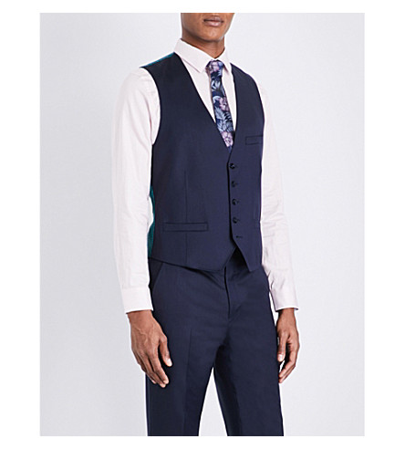 a368dbf96bb6 TED BAKER Raisew Debonair wool vest (Dark+blue