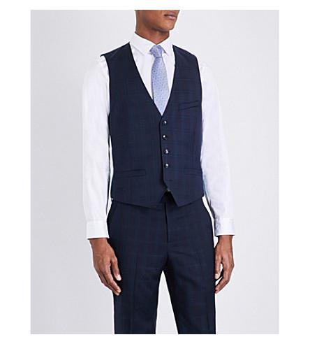 2647013af453 TED BAKER Joinw Debonair wool waistcoat (Navy