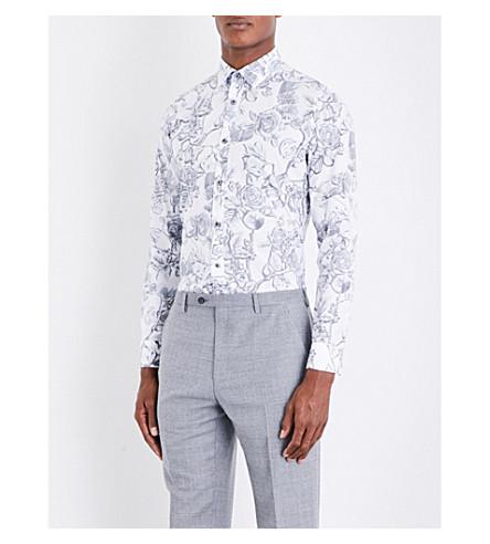 d0952d9c43eb0 TED BAKER - Nayboz floral-print cotton shirt