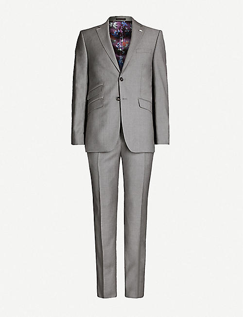 TED BAKER Modern-fit wool suit