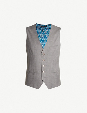 TED BAKER Debonair wool and satin waistcoat
