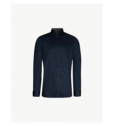 62b13bc7f8ca5 TED BAKER Modern-fit stretch-cotton shirt (Navy