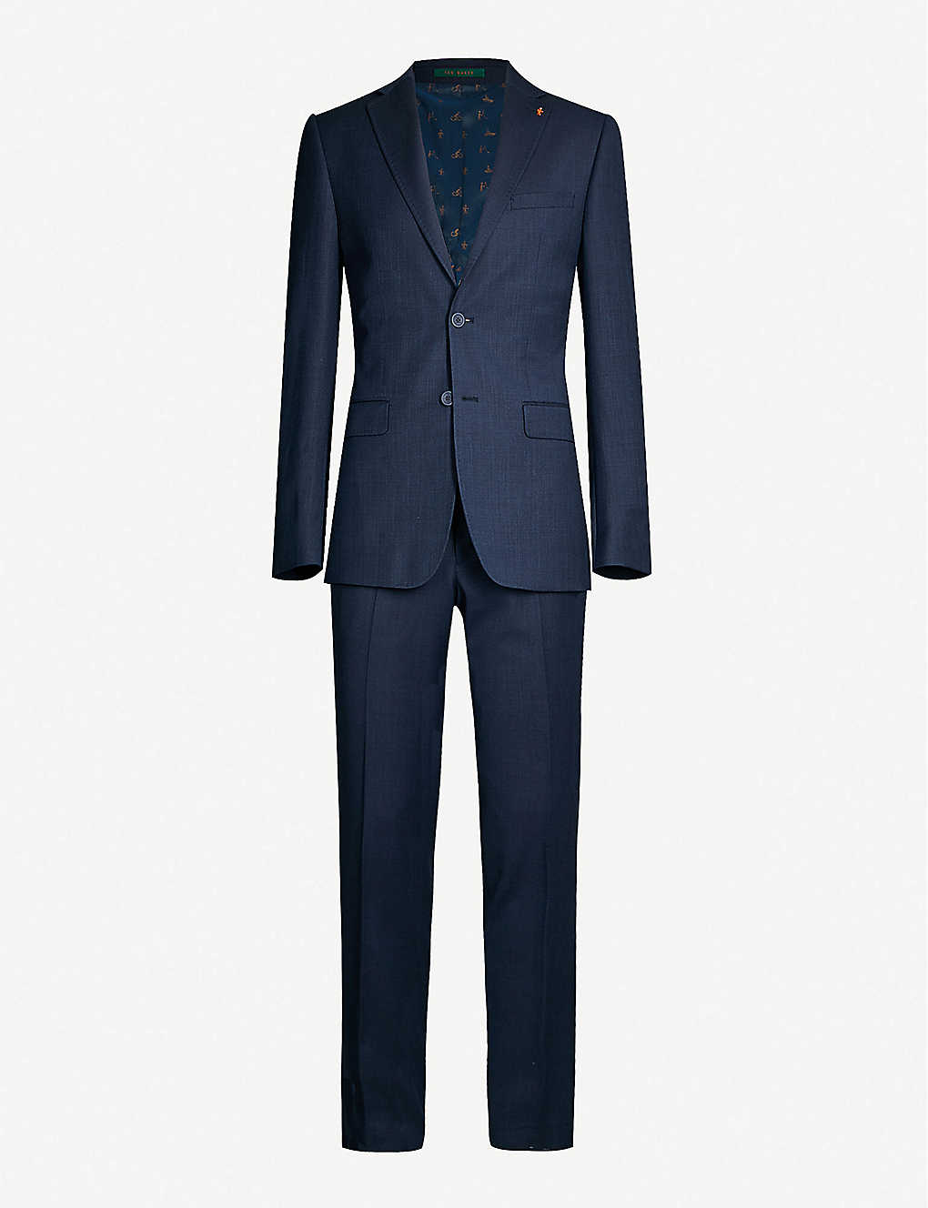 TED BAKER: Endurance modern-fit wool-blend Performance suit