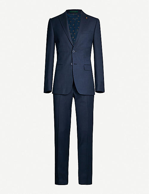 8087b2e7 TED BAKER Endurance modern-fit wool-blend Performance suit