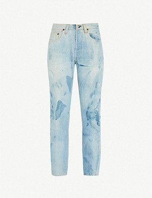 LEVIS VINTAGE 1970 501 faded regular-fit straight jeans