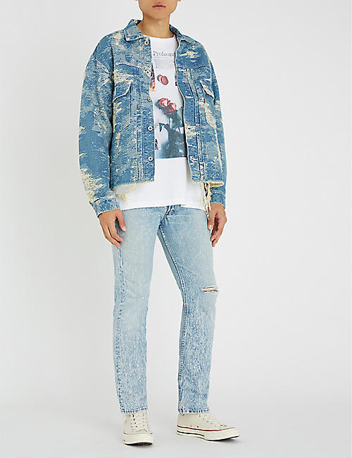 LEVIS VINTAGE 1980 501 ripped regular-fit straight jeans