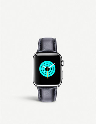 MINTAPPLE: Apple Watch leather strap and stainless steel case 38mm/40mm