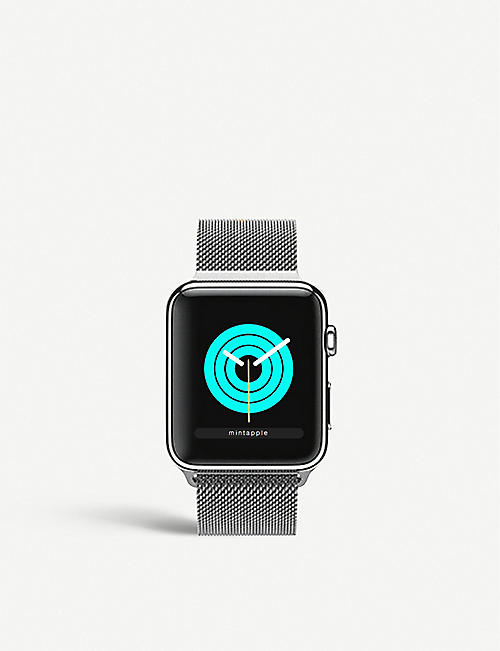 MINTAPPLE: Apple Watch Silver milanese loop strap 42mm/44mm
