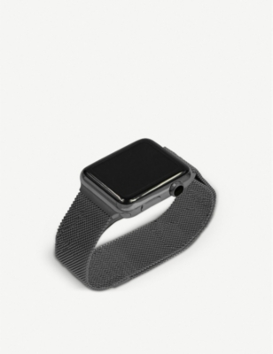 MINTAPPLE Apple Watch Space Grey milanese loop strap 42mm/44mm