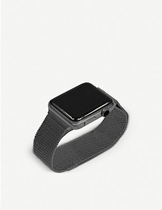 MINTAPPLE: Apple Watch Space Grey milanese loop strap 38mm/40mm