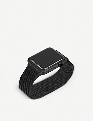 MINTAPPLE: Apple Watch Space Black milanese loop strap 38mm/40mm