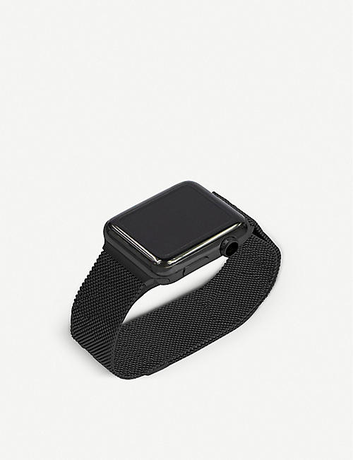 MINTAPPLE: Apple Watch Space Black milanese loop strap 42mm/44mm