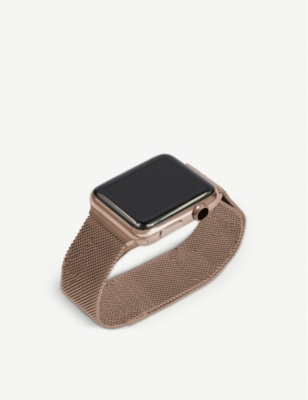 MINTAPPLE Apple Watch Gold Aluminium milanese loop strap 38mm/40mm