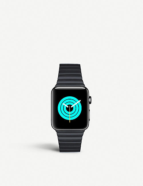 MINTAPPLE: Apple Watch Space Black coated stainless steel link strap 38mm/40mm