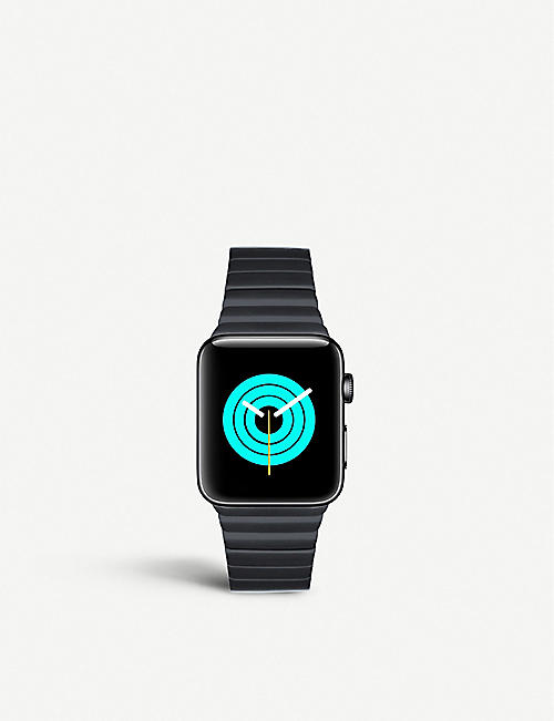 MINTAPPLE: Apple Watch Space Black coated stainless steel link strap 42mm/44mm