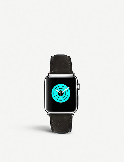 MINTAPPLE: Apple Watch stainless steel and suede strap 38mm/40mm