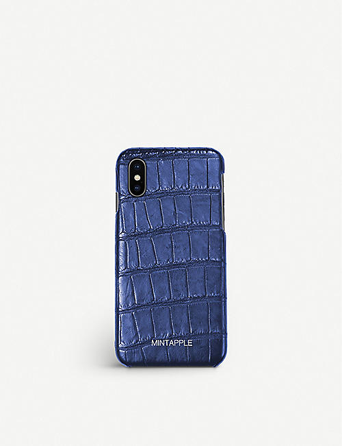 MINTAPPLE: Alligator-effect leather iPhone X case