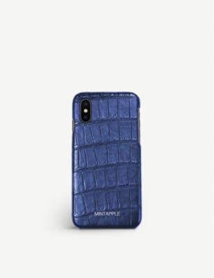 MINTAPPLE Alligator-effect leather iPhone X case