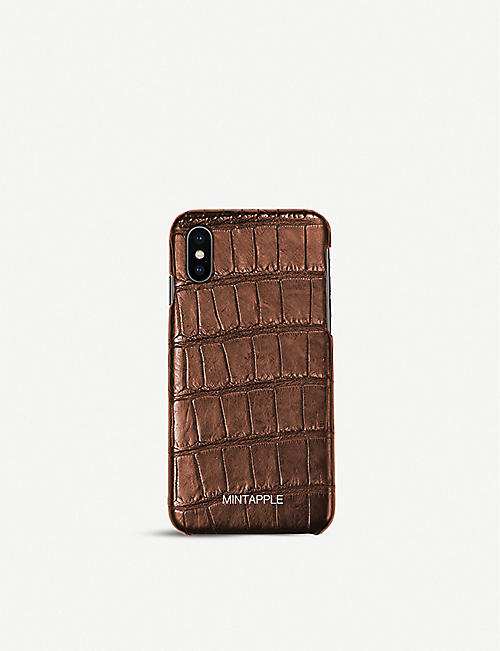 MINTAPPLE: Alligator-embossed leather iPhone Xs Max case