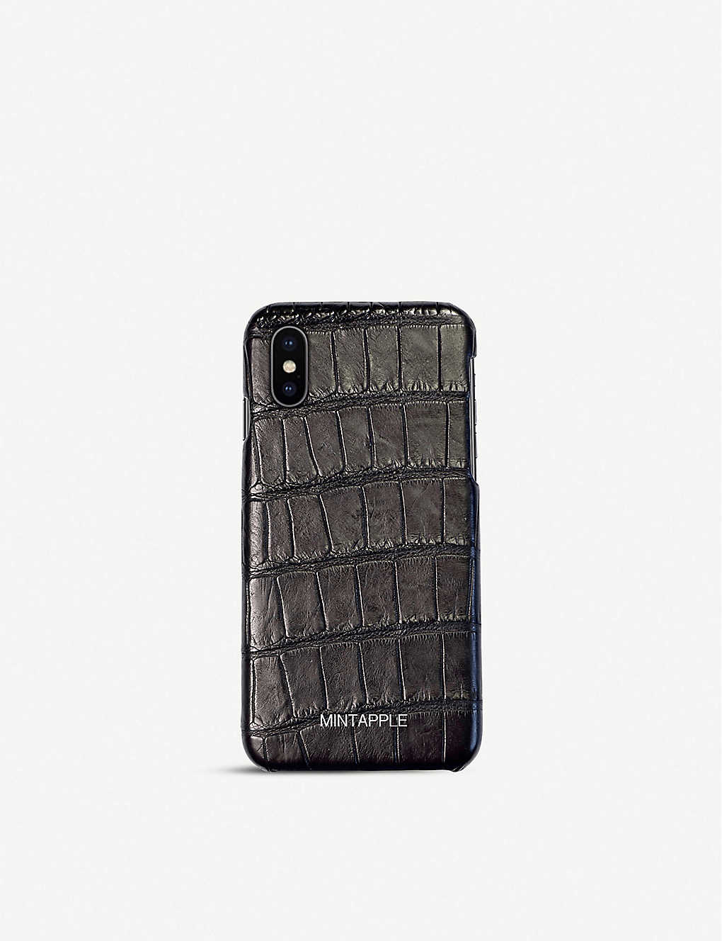 big sale c4b7d a187c Alligator-embossed leather iPhone Xs Max case
