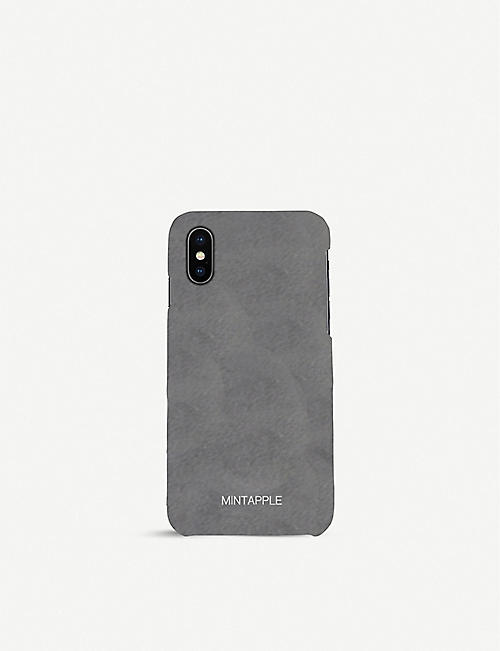 MINTAPPLE: Classic suede iPhone Xs Max case