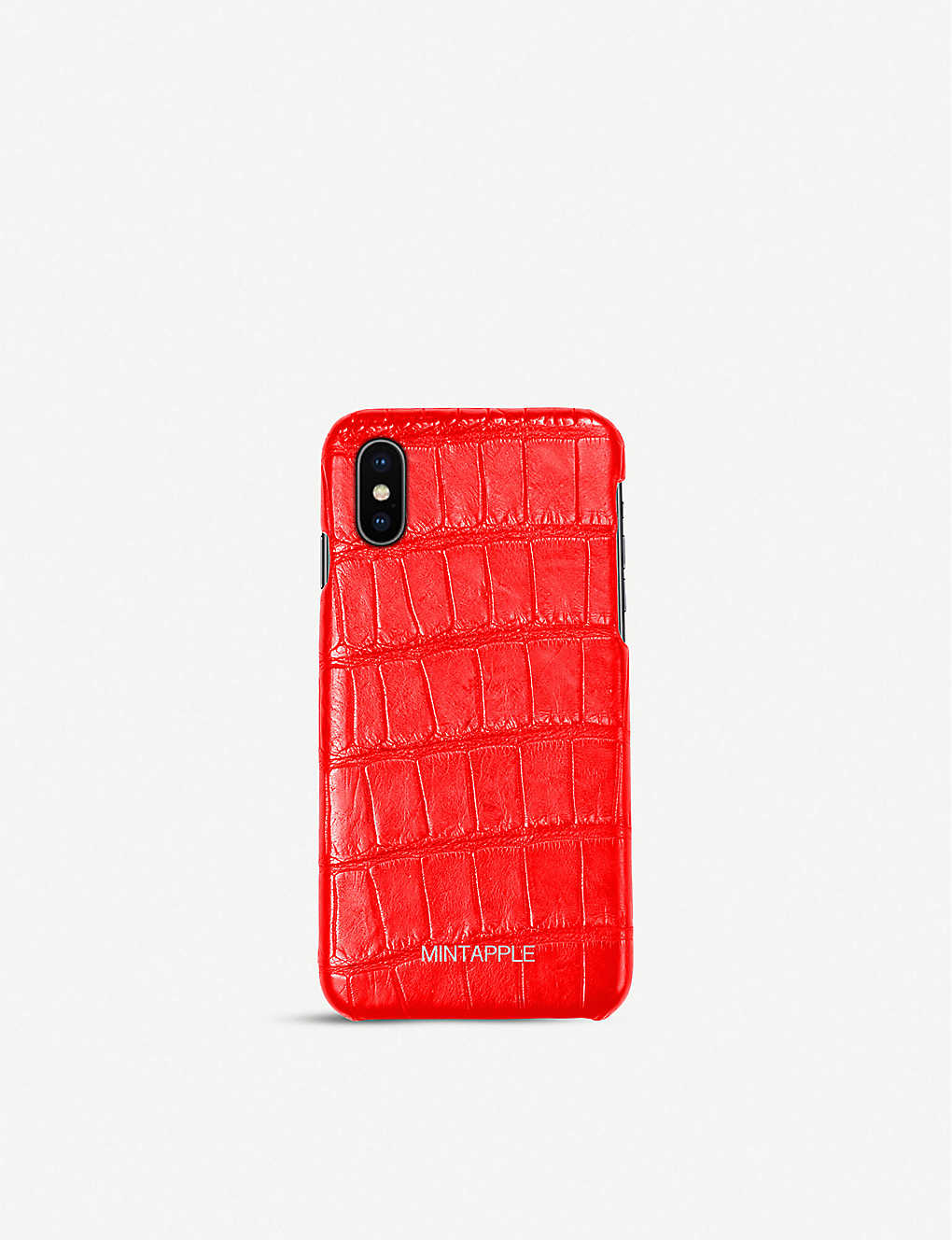 MINTAPPLE: Alligator-embossed leather iPhone X case