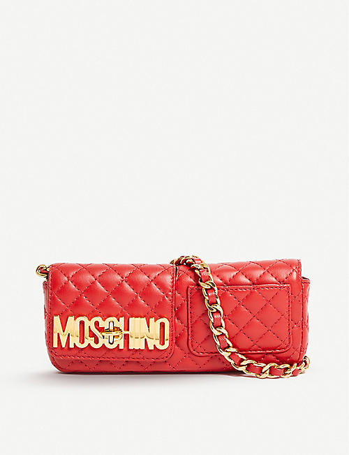 VESTIAIRE COLLECTIVE: Pre-loved Moschino leather shoulder bag