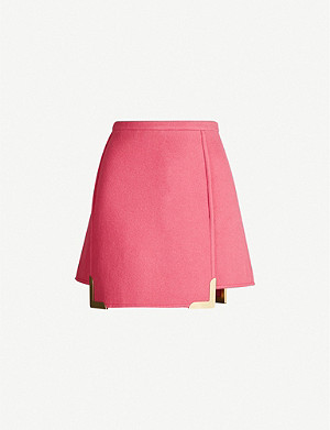 VESTIAIRE COLLECTIVE Emilio Pucci high-waist wool mini skirt