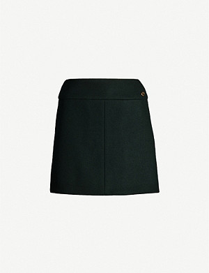 VESTIAIRE COLLECTIVE Chanel high-waisted wool mini skirt