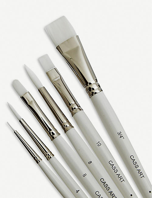 CASS ART White synthetic brush set of six