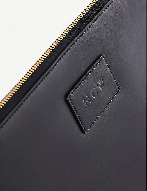 NOT ANOTHER BILL A5 zip-up leather folio