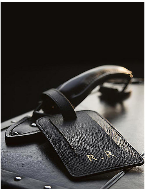 NOT ANOTHER BILL Leather luggage tag