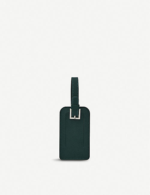 NOT ANOTHER BILL: Leather luggage tag