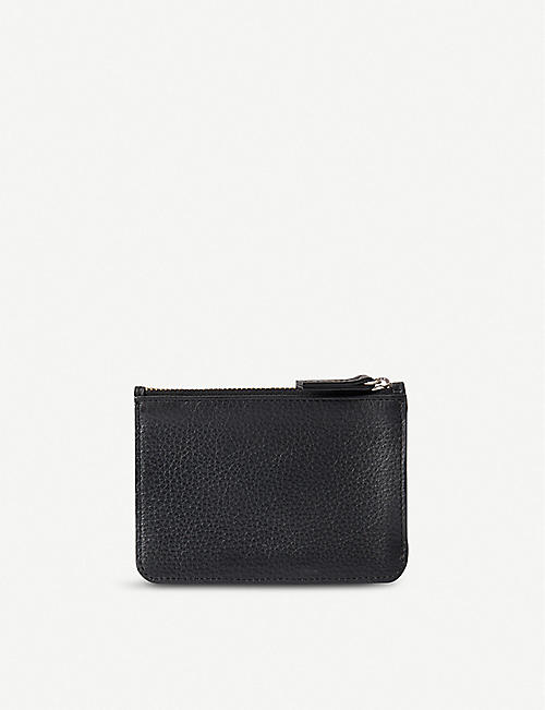 NOT ANOTHER BILL: Leather zip purse