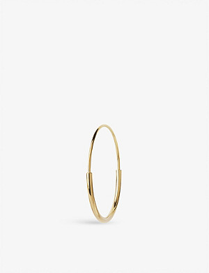 MARIA BLACK Delicate 26 gold-plated hoop earring