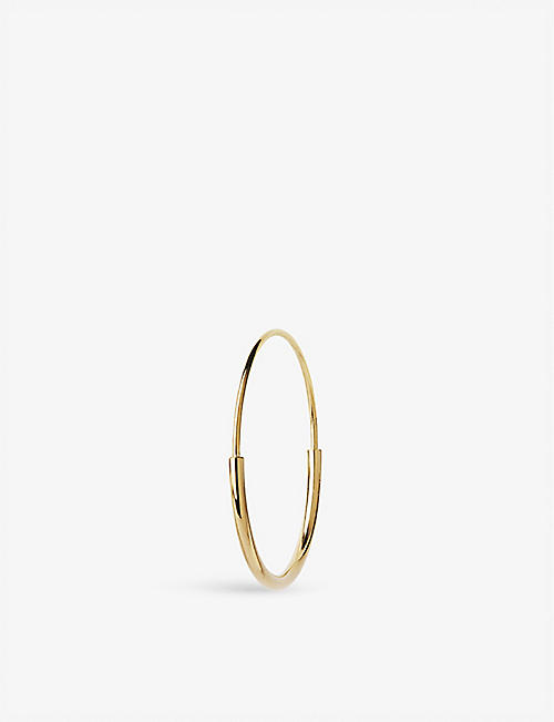 MARIA BLACK: Delicate 26 gold-plated hoop earring