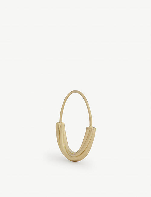 MARIA BLACK: Tove gold-plated small hoop earring