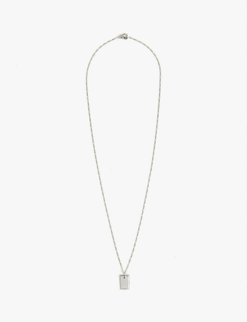 MARIA BLACK: Eliza rhodium-plated necklace