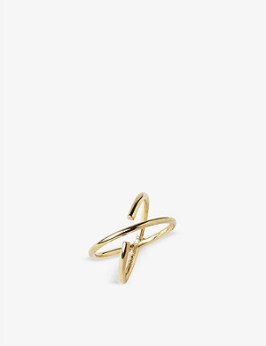 MARIA BLACK Twin gold-plated sterling silver ring