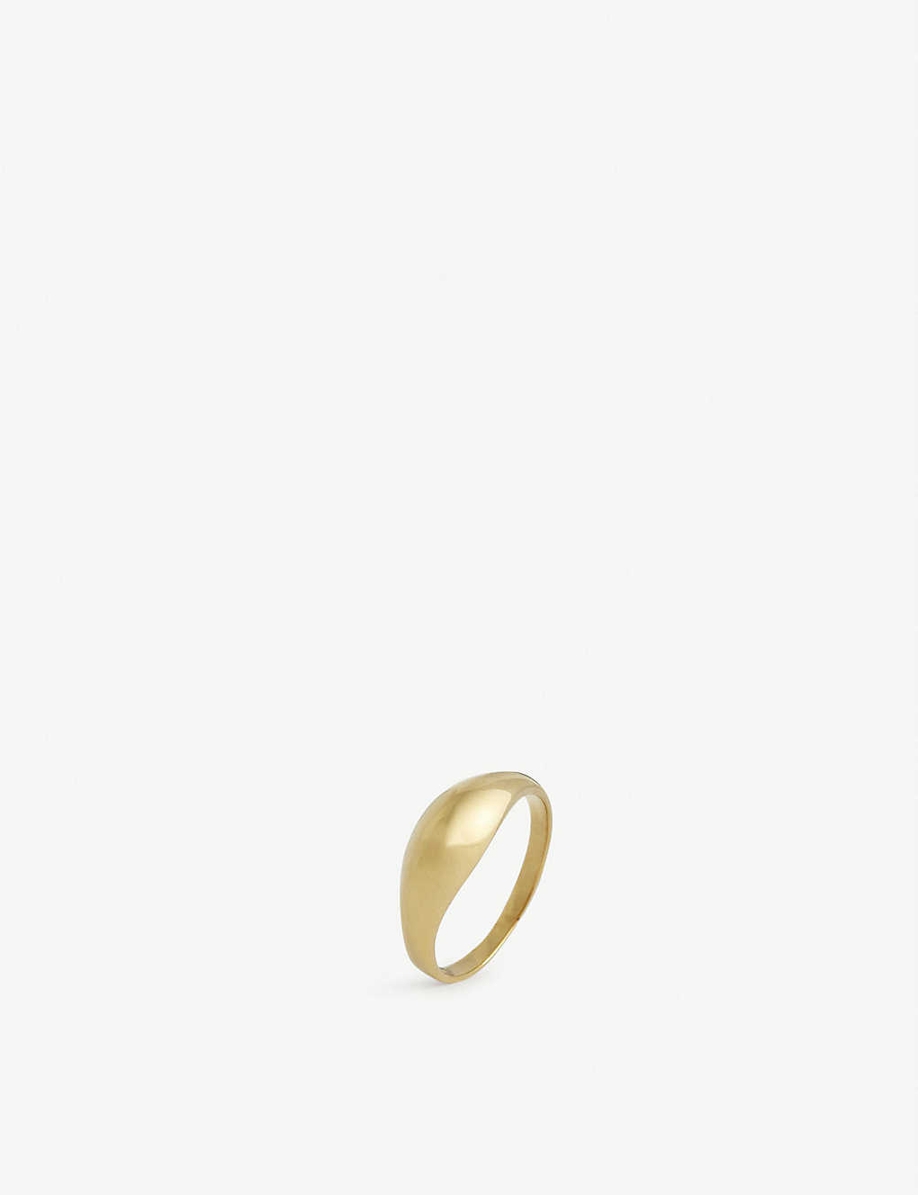 MARIA BLACK: Esther 18ct yellow gold-plated ring