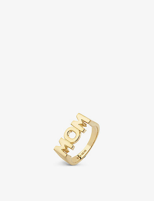 MARIA BLACK Mom 18ct yellow gold-plated sterling silver ring