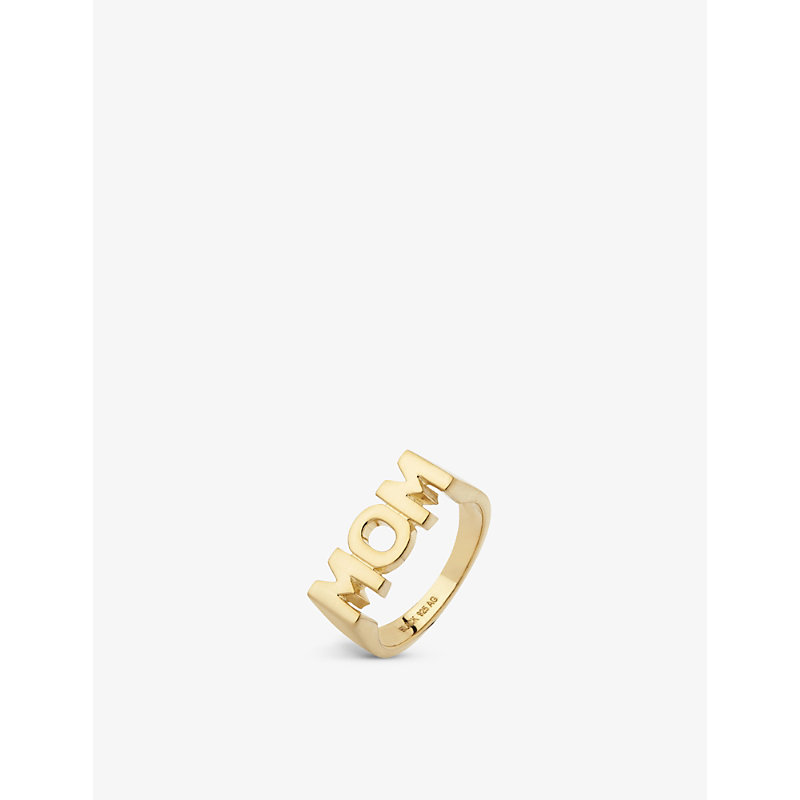 MARIA BLACK   Mom 18ct Yellow Gold-Plated Sterling Silver Ring   Goxip