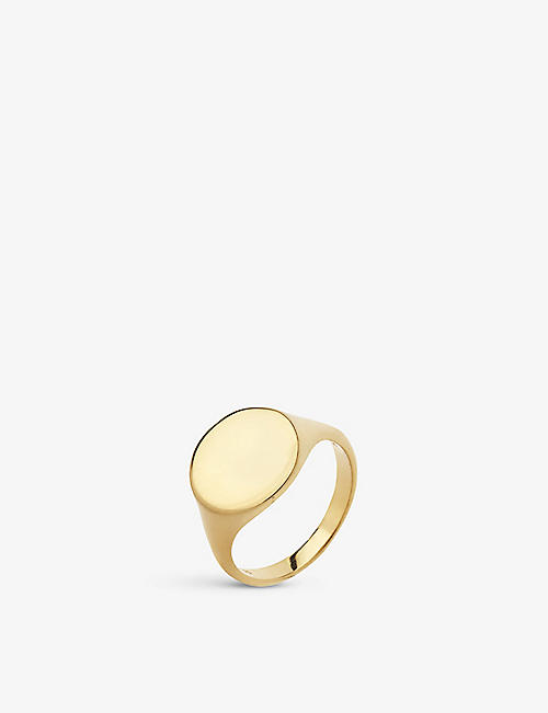 MARIA BLACK: Ready Heart gold-plated ring