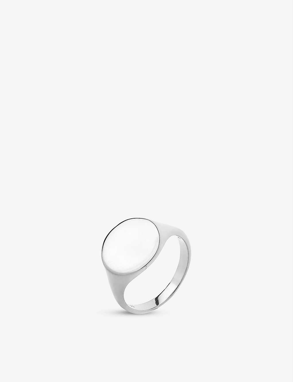MARIA BLACK: Ready Heart white rhodium-plated ring