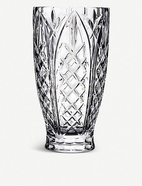 WATERFORD: Northbrooke crystal glass vase 25cm