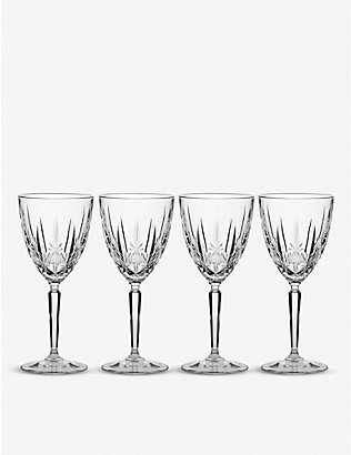 WATERFORD: Marquis Sparkle crystal wine glasses set of four