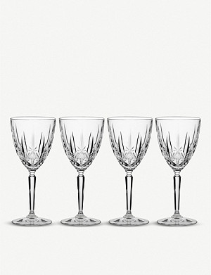 WATERFORD Marquis Sparkle crystal wine glasses set of four