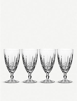 WATERFORD: Marquis Sparkle crystal iced beverage glasses set of four