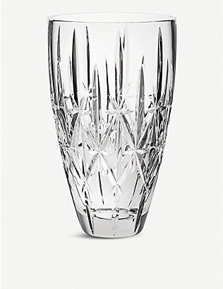 WATERFORD: Marquis Sparkle crystal vase 23cm